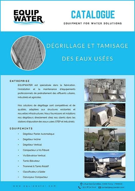 Catalogue Equipwater Dégrillage et Tamisage des eaux usées