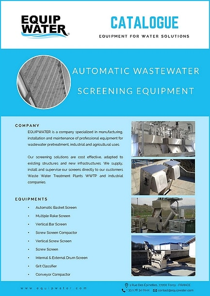 catalogue equipwater automatic wastewater screening equipment
