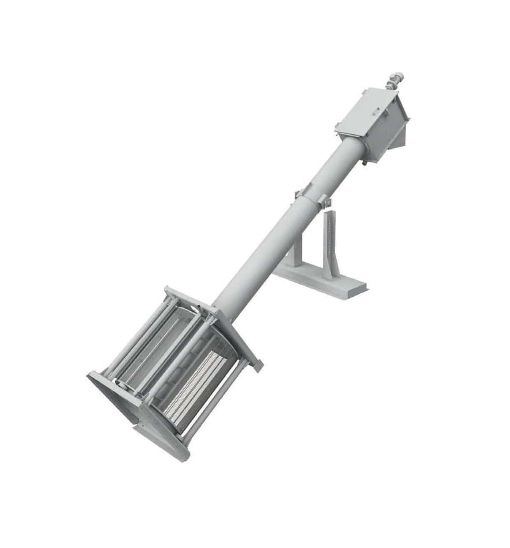ROTARY SCREEN est un dégrilleur à tambour rotatif utilisé pour la séparation solide / liquide à haut débit combinant deux opérations: la filtration et le compactage. L'équipement comporte un tambour réalisé en tôle perforée ou grillagée, agissant comme un filtre rotatif suivi d'une section de transport se terminant par un zone de compactage / déshydratation. Les déchets sont acheminés par la vis sans fin jusqu'en haut de l'équipement où le volume et le poids sont réduits jusqu'à 40%. Une goulotte ou un système d'ensachage pouvant être ajouté à la sortie.