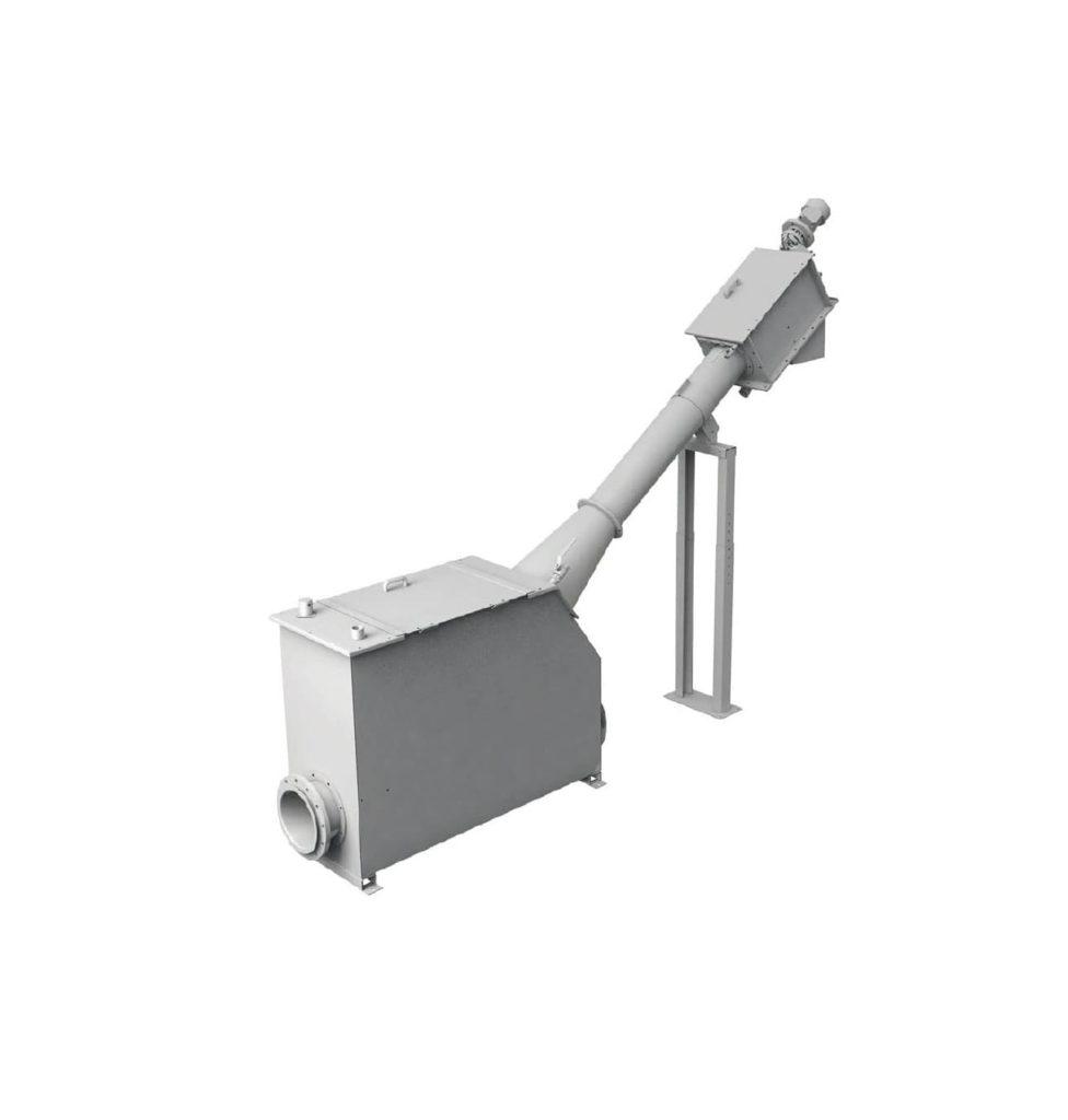 Le SPIRAL SCREEN est installée dans un réservoir autoportant. L'équipement est composé d'un réservoir avec couvercle supérieur à charnière avec interrupteur de sécurité, purgeur d'air et tuyau fileté de 1″. La zone de filtration est composée d'un panier grillagé en acier inoxydable perforées de 2 à 10 mm ou de 0,25 à 2 mm pour une tôle grillagée droit. Le panier à tamis est nettoyé par des brosses renforcées fixées avec des boulons directement à l'extérieur de la vis de transport. Ces brosses renforcées sont divisées en secteurs facilement remplaçables.