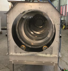 internally fed drum screen in the shop in manufacturing