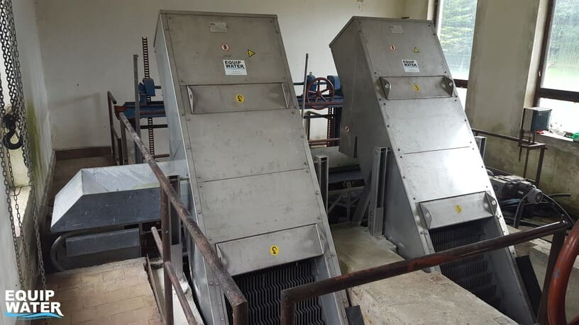 installation of two step screens in a wastewater treatment plant
